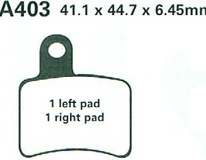 Brake Pads EBC FA403 Beta