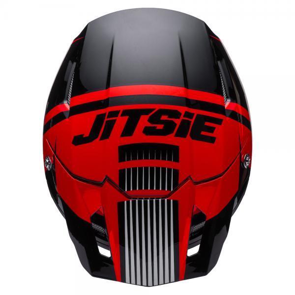 Helmet Jitsie Struktur Red/Black