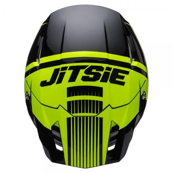 Helmet Jitsie Struktur Black/Yellow